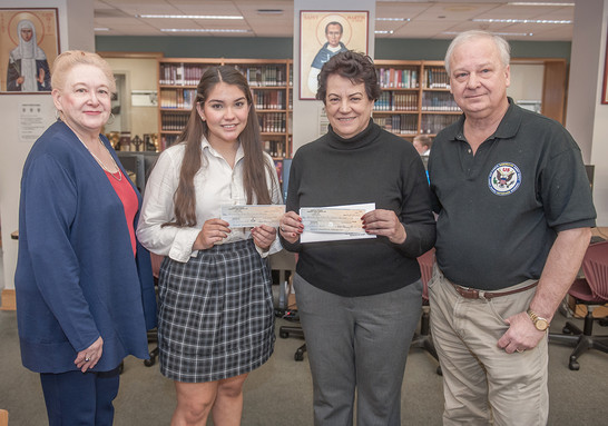 2019 Scholarship funds presented to Chelsea Quiroga