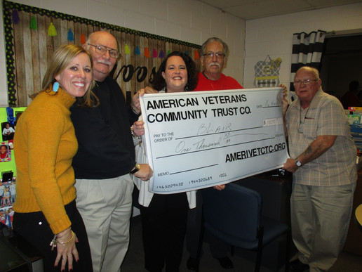 Donation to Blairs
