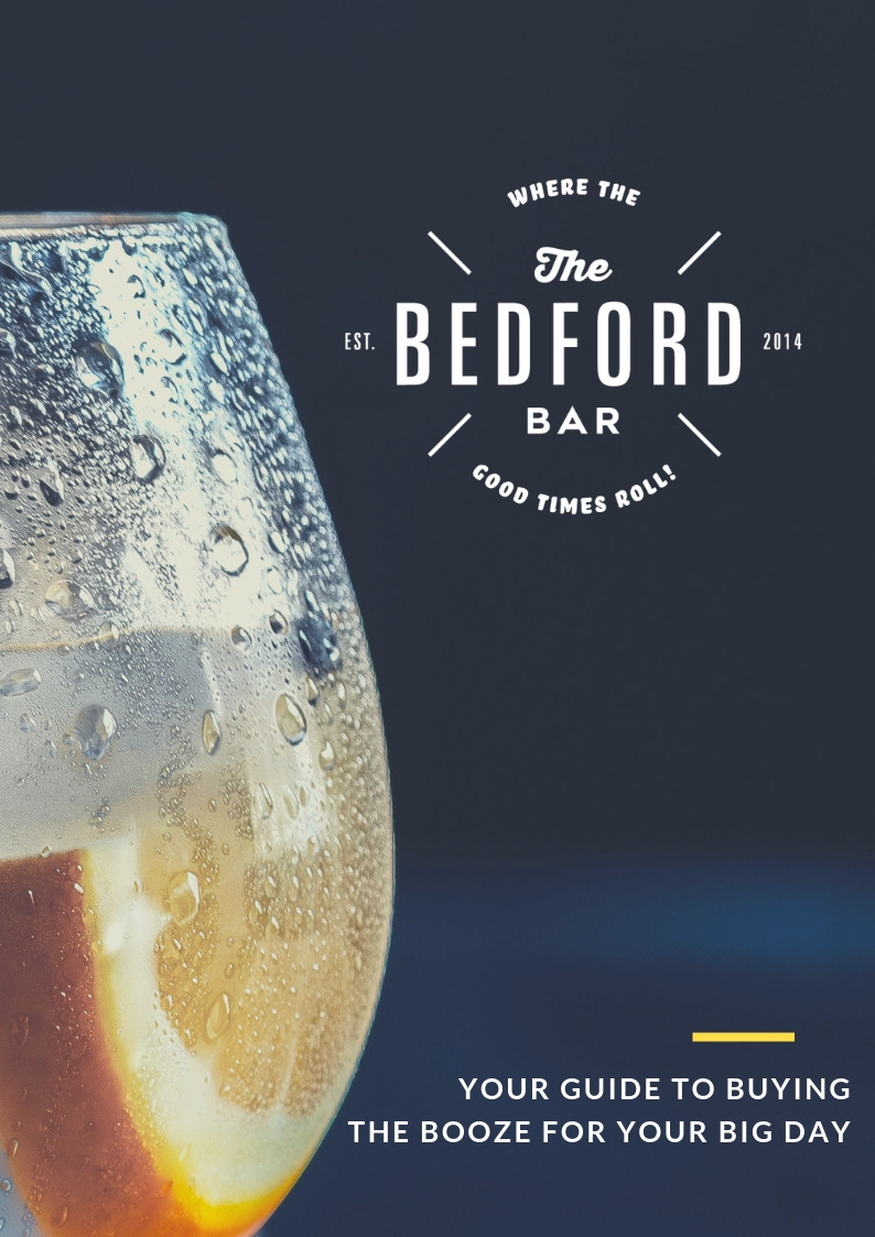 The Bedford Bar, wedding drinks