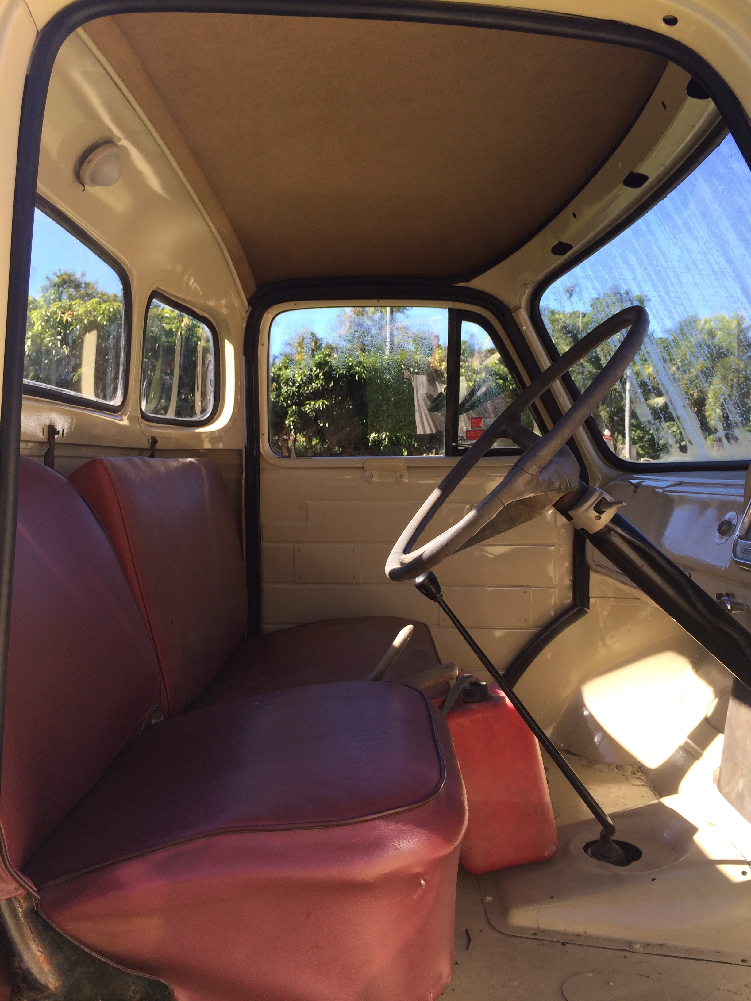 Interior of cab after restoration