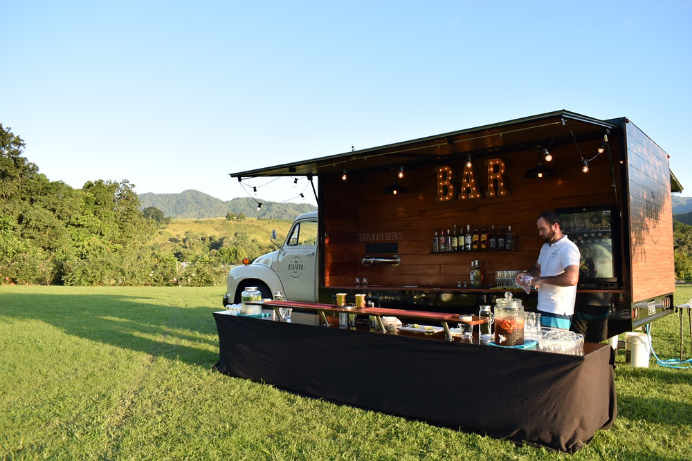 Cairns Wedding, Laloli Gardens, Mobile bar