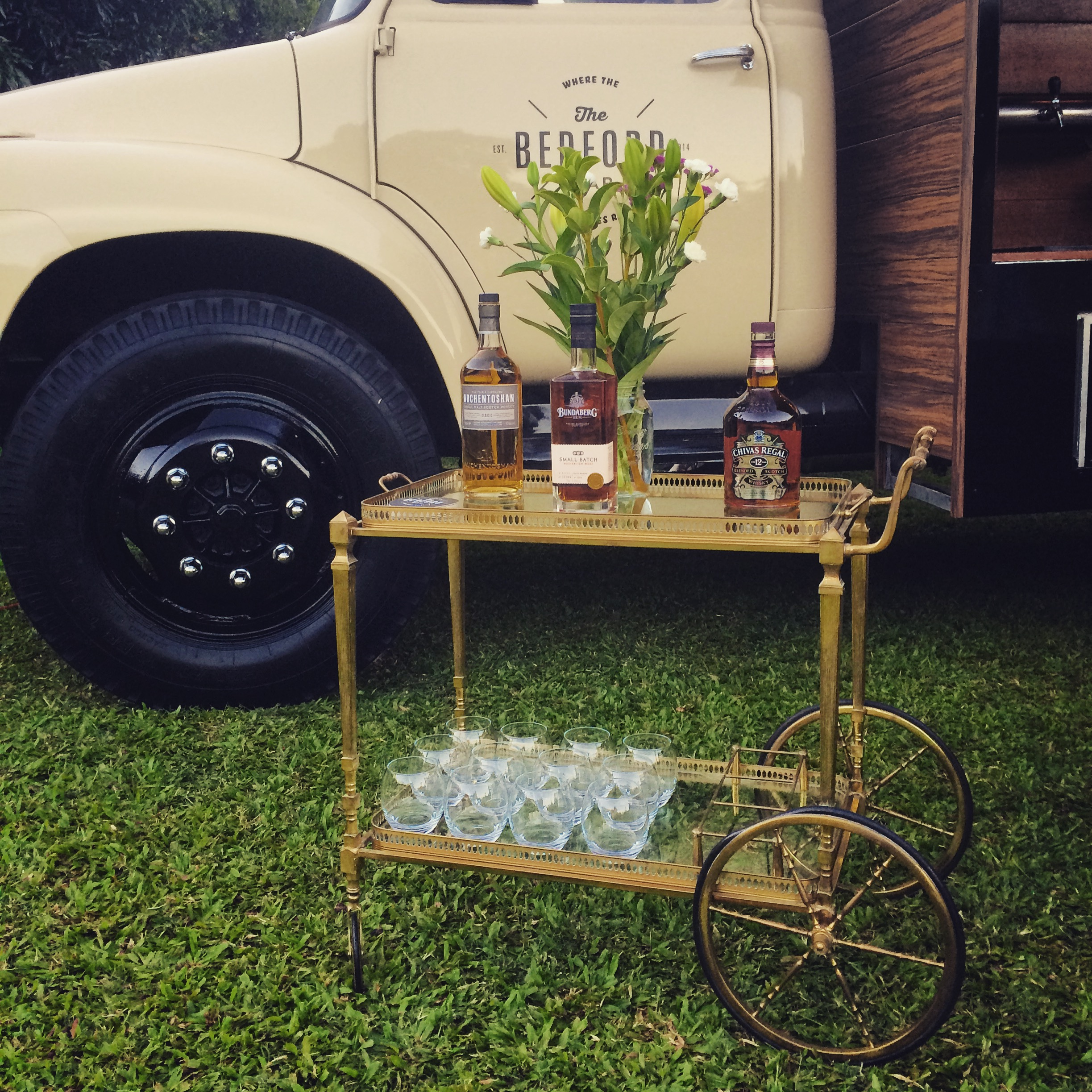 Vintage Whisky cart|The Bedford Bar