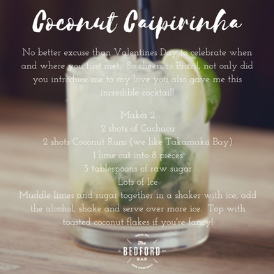 Valentine's Day Caipirinha anyone?