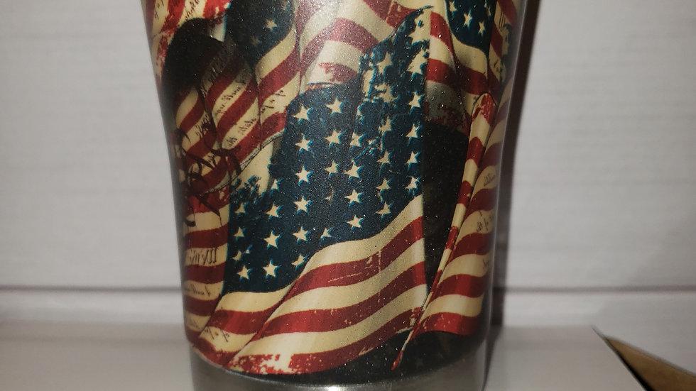 Rustic American Flag Lowball Tumbler