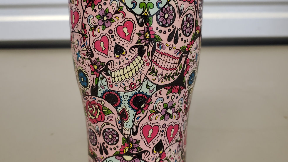 Candy Skulls 20oz Stainless Steel Tumbler