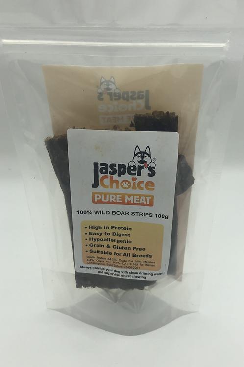 Jasper's Choice Pure Meat Boar Strips (100g)