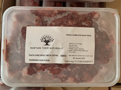 NTN Duck & Beef with Offal Primal Complete (500g)