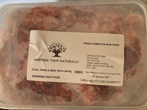 NTN Duck, Pork & Beef with Offal Primal Complete (500g)