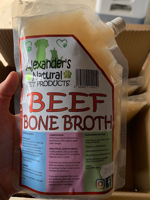 Alexander's Natural Beef Bone Broth Pouch (500ml)