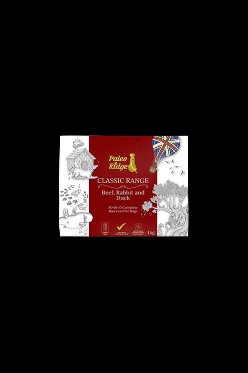 Paleo Ridge - Classic Beef, Rabbit & Duck (1kg)