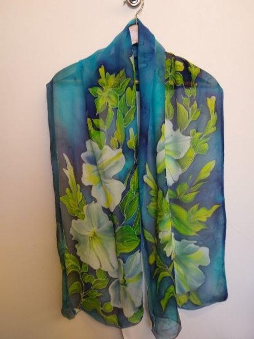 Blue Petunia Scarves