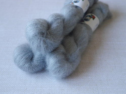 SILVER GREY - KMS - 72% kid mohair 28 % soie - Lace