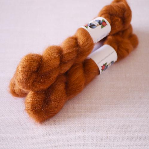 TERRACOTTA - KMS - 72% kid mohair 28 % soie - Lace