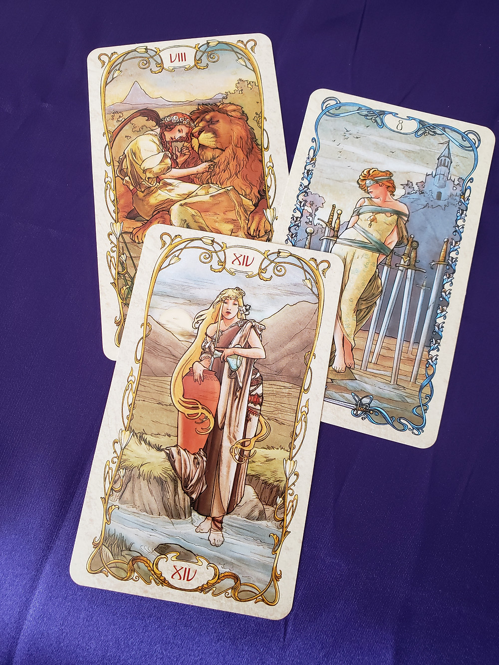 Mucha painting style tarot at SLC day spa