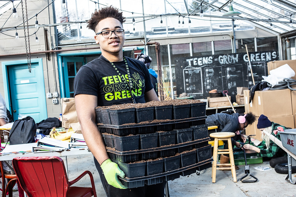 Jaden, a Graduate of TGG and now an Agricultural Apprentice at Webers Greenhouse.  The Greenhouse is owned and operated by TGG as a way to employ Graduates and expose them to career paths in Agriculture through our Youth Apprenticeship program.  The greenhouse offically opens for the season on May 2nd and now offers curbside pick-up for all online orders.