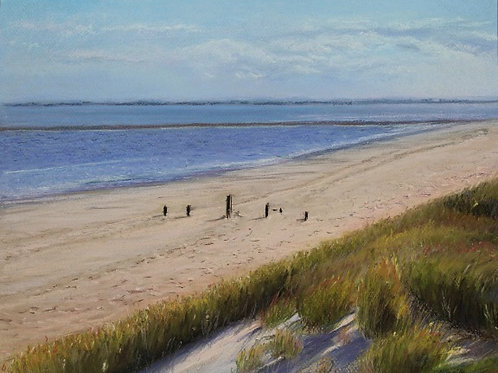 Sea and Grassy Sand dunes  -  SOLD