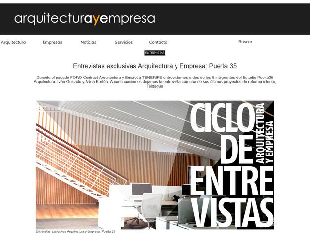 publicación revista Arquitectura y empresa, Oficinas Teidagua
