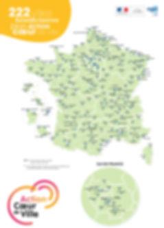 222 villes bénéficiaires du plan Action Coeur de Ville