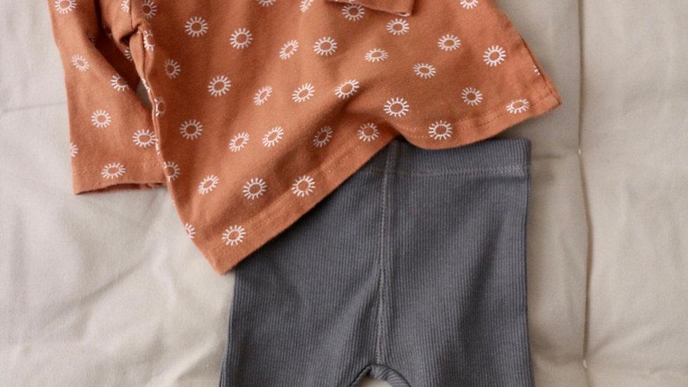 T-shirt terracotta + legging