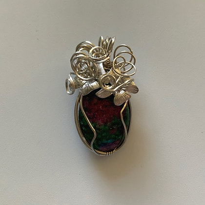 Red and Green Dragons Vein Pendant
