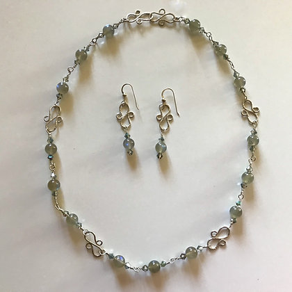 Labradorite Necklace Set