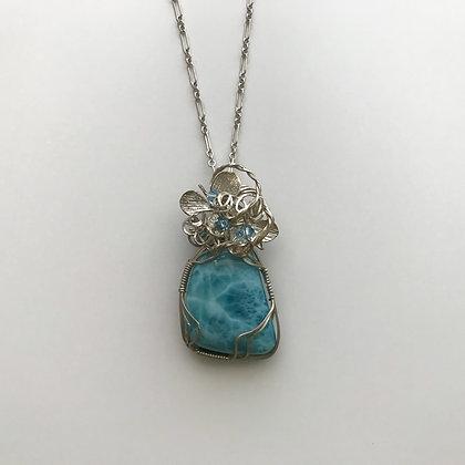 Lovely Larimar Gemstone Pendant