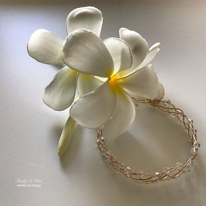 14k Gold Fill & Swarovski Crystal Bangle Bracelet