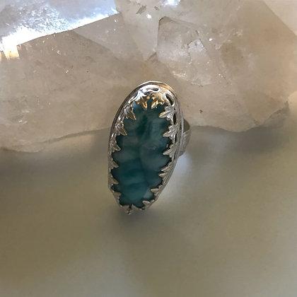 Lovely Larimar Gemstone Ring