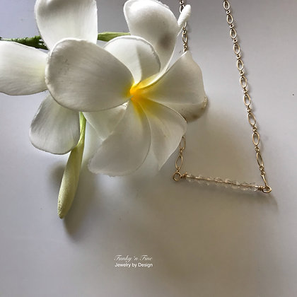 14k Gold Fill & Swarovski Crystal Necklace