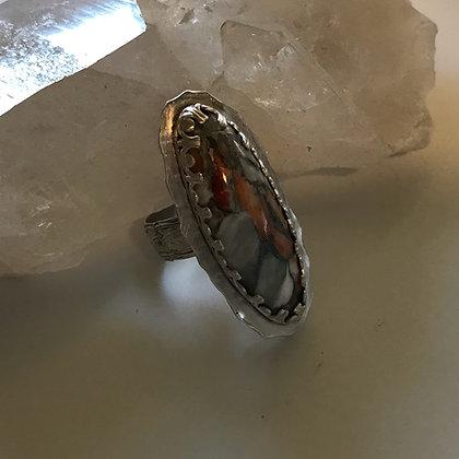 Spiny Oyster Gemstone Ring