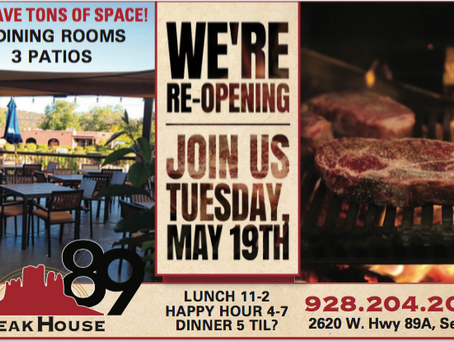 Steakhouse89 Open For Business Tuesday, May 19