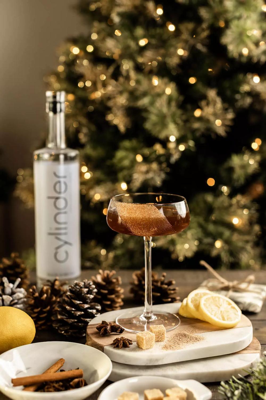 Cylinder Vodka Chai Spice Martini