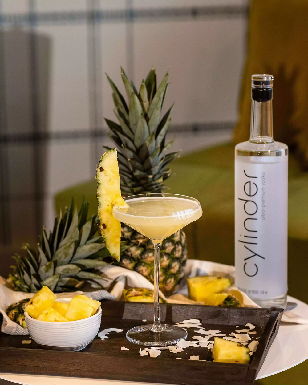 Cylinder Vodka Coconut Lychee Martini