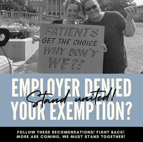 What to do if your Exemption is Denied?