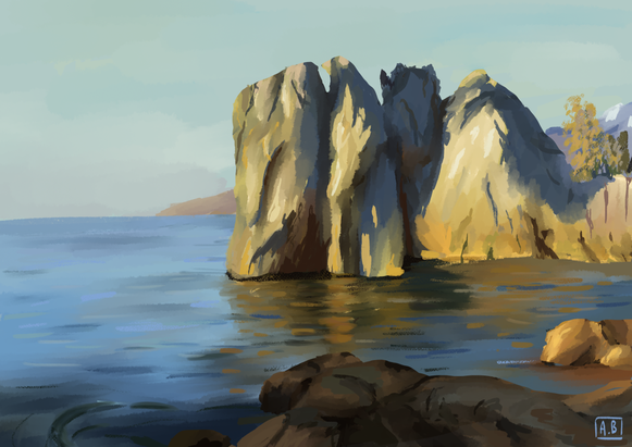 painting_falaise
