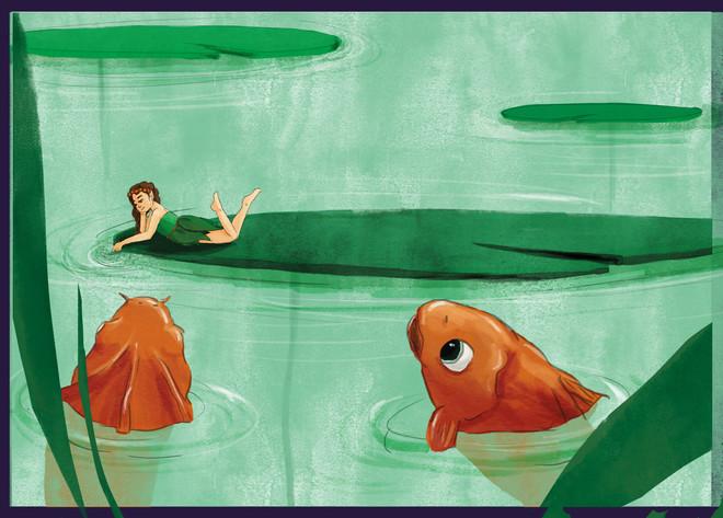 waterlilies (participation au concours d'illustration de Bologne 2019)
