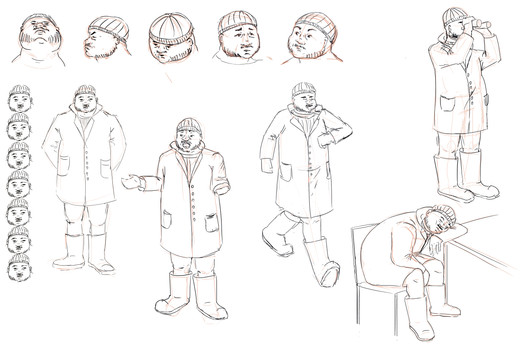 character design gardien de phare