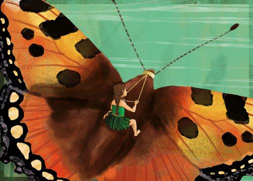 butterfly ride (participation au concours d'illustration de Bologne 2019)