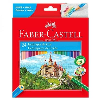 Lápis de Cor Faber-Castell 24 Eco Lápis