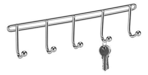 Cabideiro De Parede Porta Chaves 5 Ganchos - Metal - Arthi