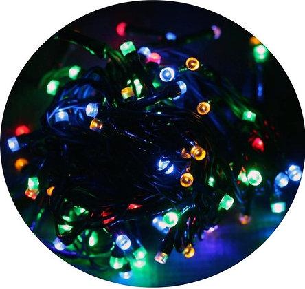 Pisca Pisca Colorido Cordão 9m 100 Leds 127v Enfeites Natal