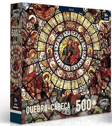 Quebra Cabeça - 500pçs Vitrais