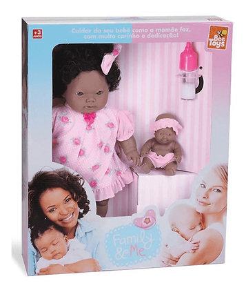 Boneca Family E Me Negra - Bee Toys
