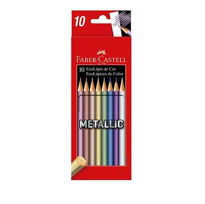 Lápis de Cor Faber-Castell Metallic 10x
