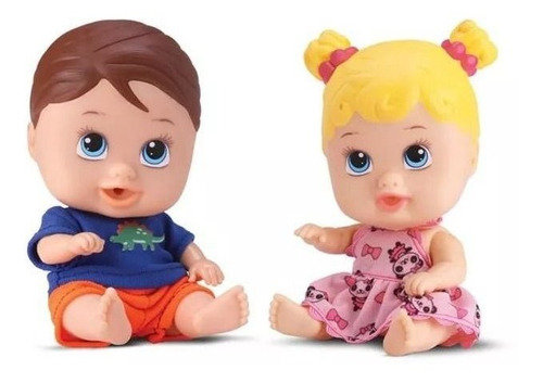 Boneca Little Dolls - Menino E Menina - Gêmeos