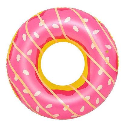 Boia De Rosquinha Donuts Chocolate Creme Rosa - Dm Splash