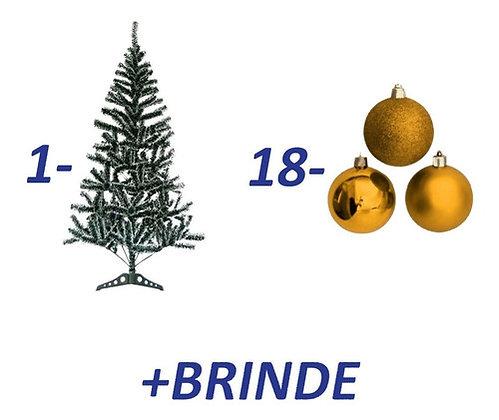 Kit Árvore De Natal Nevada 120cm Bolas Vermelhas / Douradas