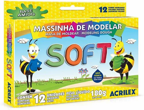 Massinha de Modelar Soft 12un - Acrilex