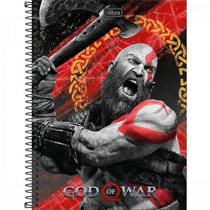 Caderno Univ. God of War 1 Matéria 80 Folhas Tilibra