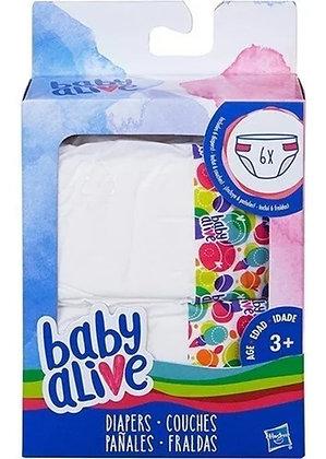 Kit Refil Fralda Baby Alive Para Bonecas - Hasbro